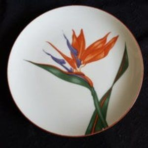 Fitz and Floyd Bird of Paradise Plate